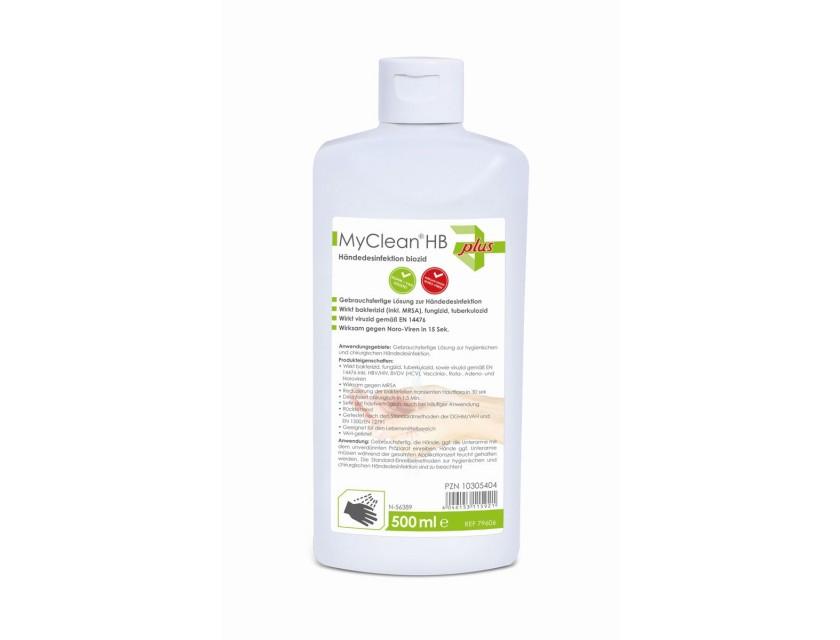 MyClean Haut und Händedesinfektion 1 Karton mit 18 x 500 ml Flaschen Viruzid